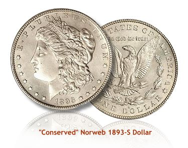 Conserved Norweb 1893-S dollar