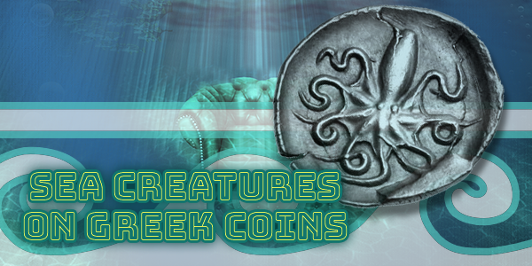 Sea Creatures on Greek Coins - Octopus