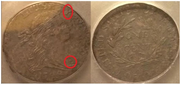 Struck Fake 1798 S-158 large cent