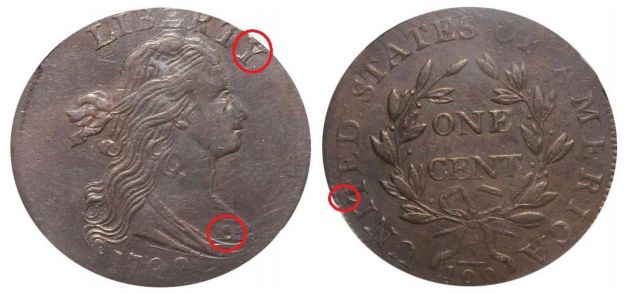 Fake 1798 S-158 large cent