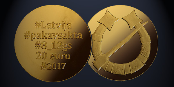 World Coins: Latvia 20 Euro 2017 Pakavsakta
