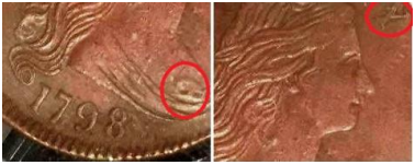 Mail-bid struck fake 1798 S-158 large cent